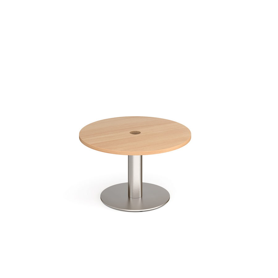 Picture of Monza circular coffee table 800mm with central circular cutout 80mm - beech