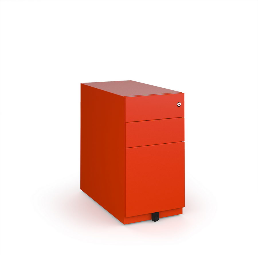 Picture of Bisley slimline steel pedestal 300mm wide - red