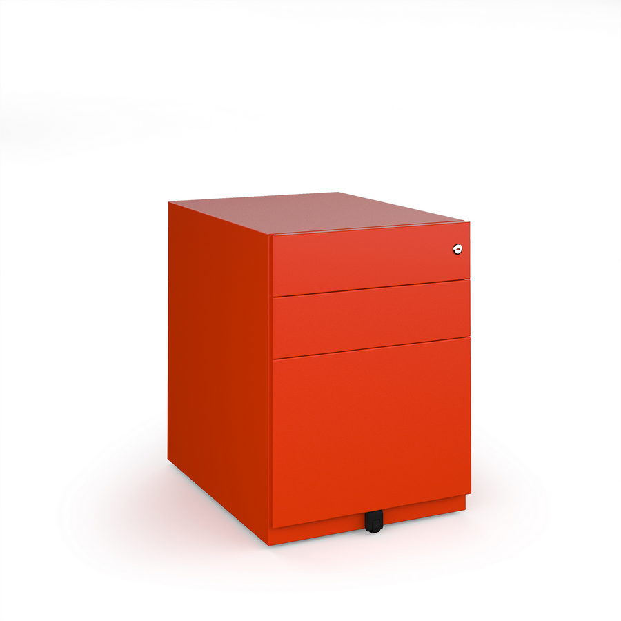 Picture of Bisley wide steel pedestal 420mm wide - red