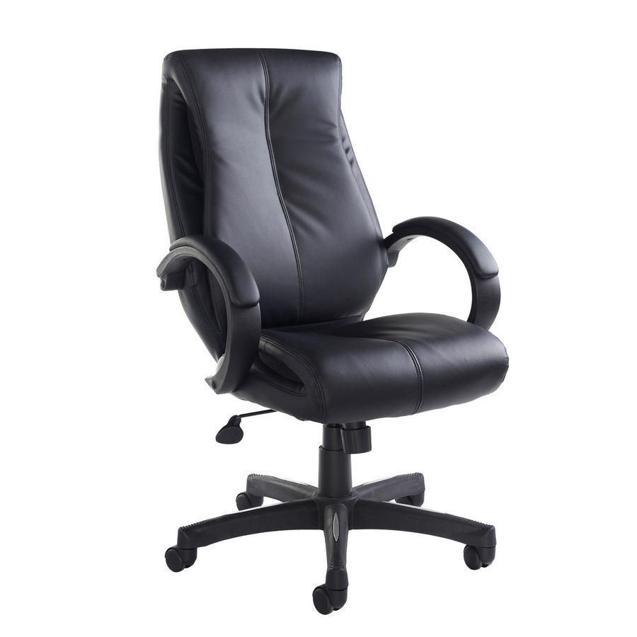 Picture of Nantes high back managers chair - black faux leather