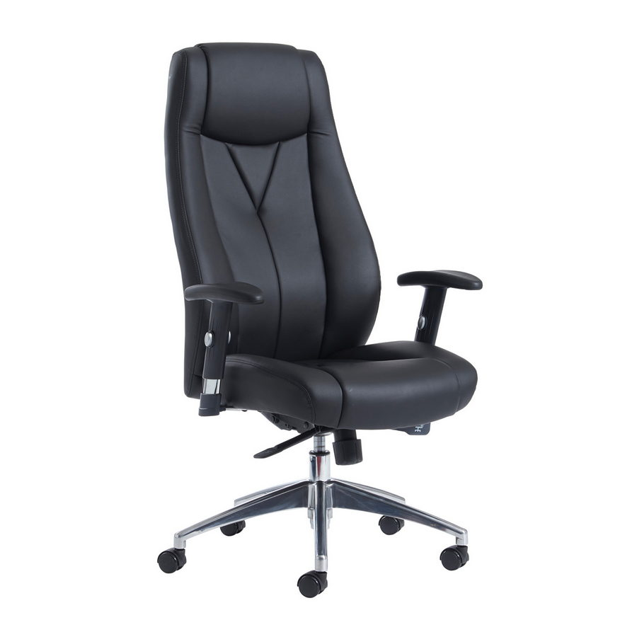 Picture of Odessa high back executive chair - black faux leather