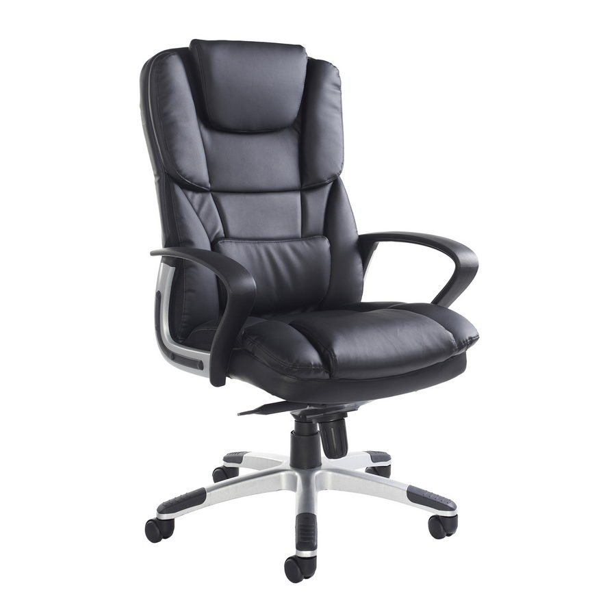 Picture of Palermo high back executive chair - black faux leather