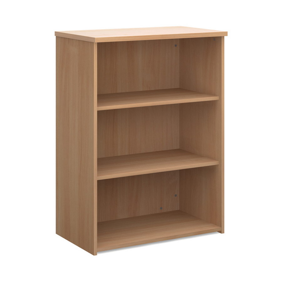 Picture of Universal bookcase 1090mm high with 2 shelves - beech