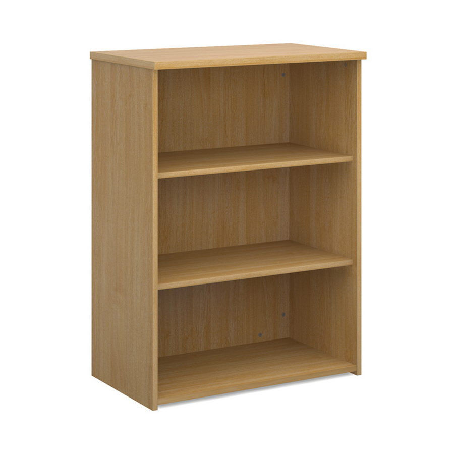 Picture of Universal bookcase 1090mm high with 2 shelves - oak