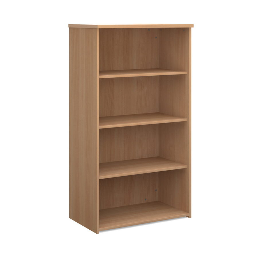 Picture of Universal bookcase 1440mm high with 3 shelves - beech
