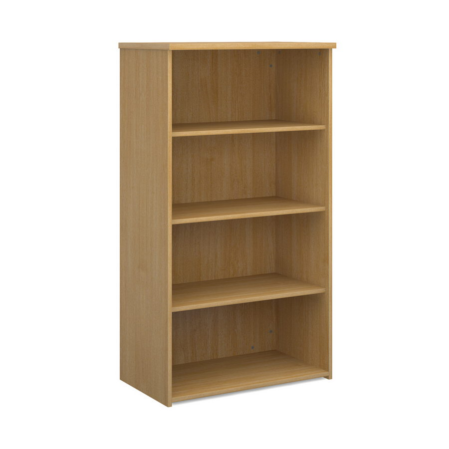Picture of Universal bookcase 1440mm high with 3 shelves - oak