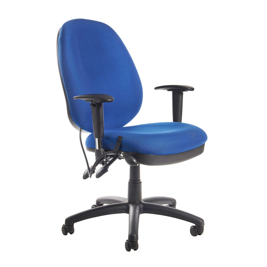 Picture of Sofia adjustable lumbar operators chair - blue