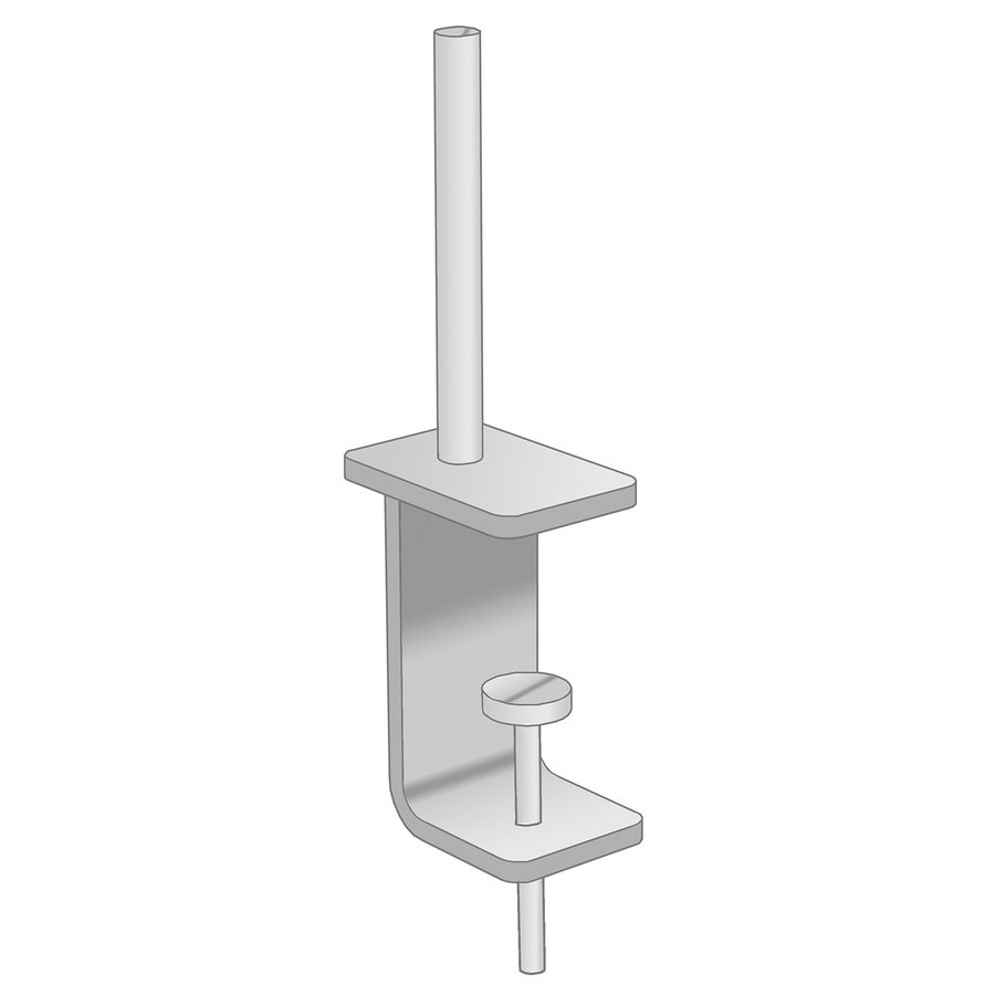 Picture of Universal fabric screen return desk brackets  (pair)