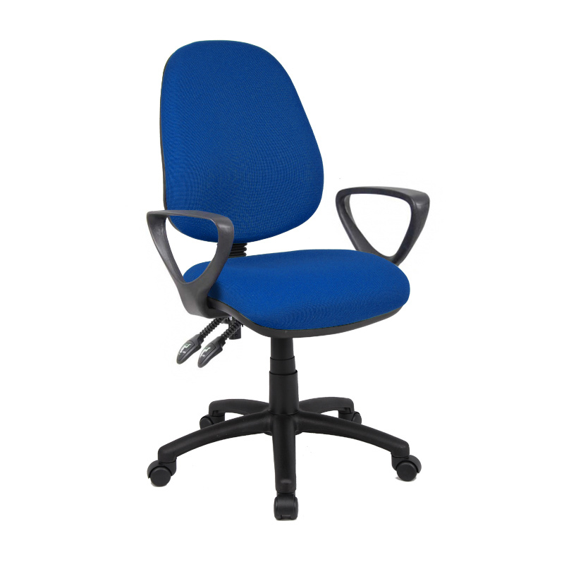 Picture of Vantage 100 2 lever PCB operators chair with fixed arms - blue