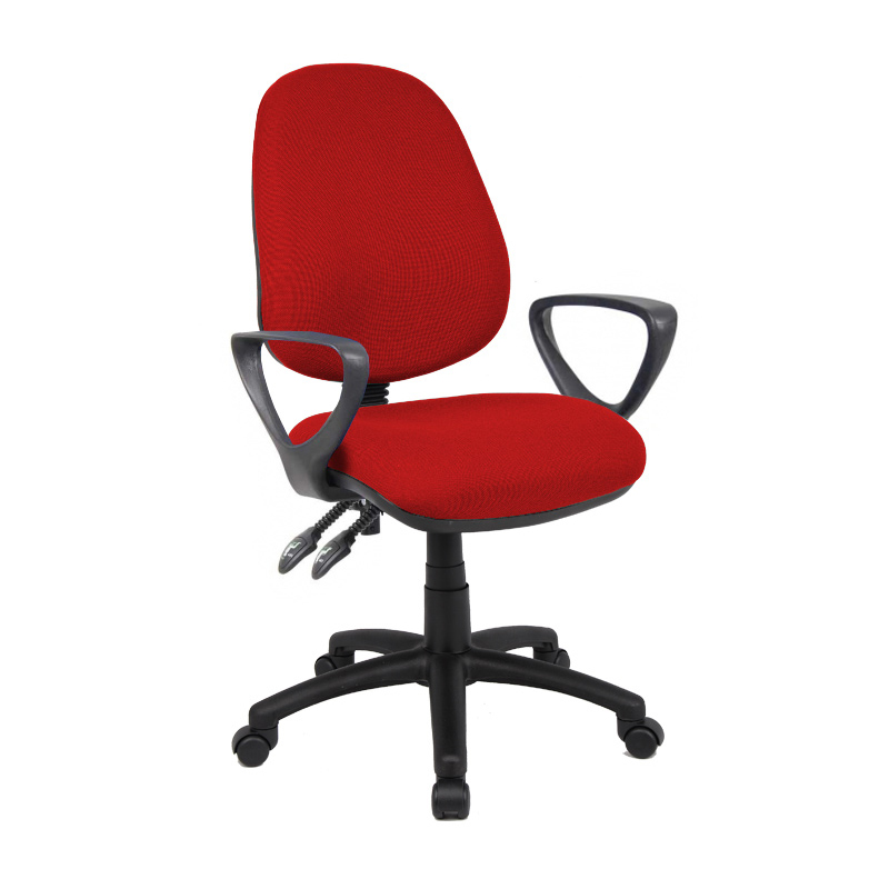 Picture of Vantage 100 2 lever PCB operators chair with fixed arms - burgundy
