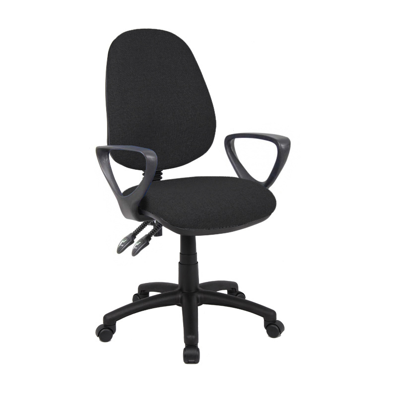 Picture of Vantage 100 2 lever PCB operators chair with fixed arms - black