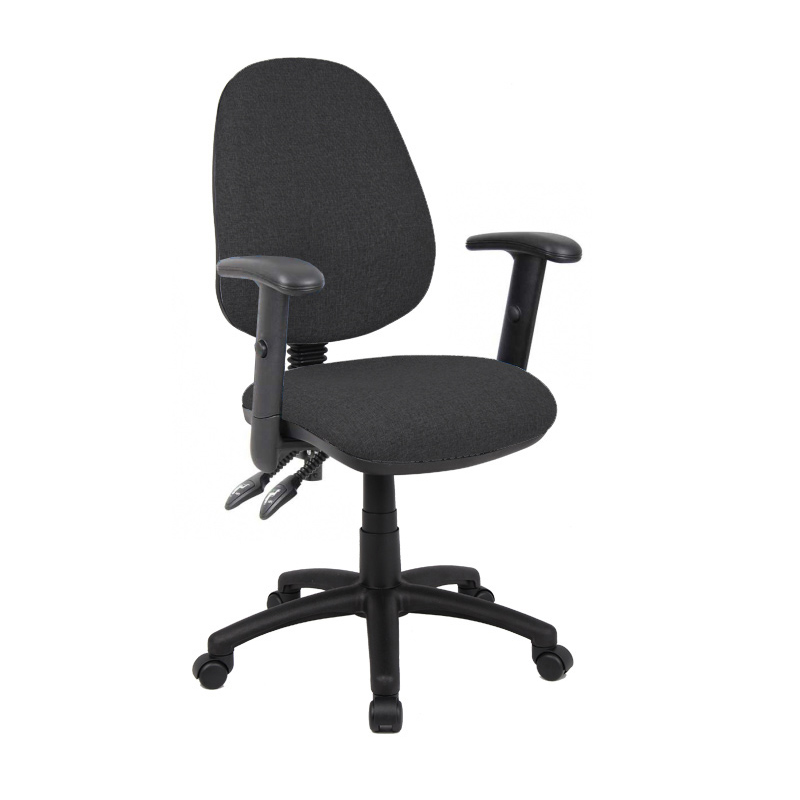 Picture of Vantage 100 2 lever PCB operators chair with adjustable arms - charcoal