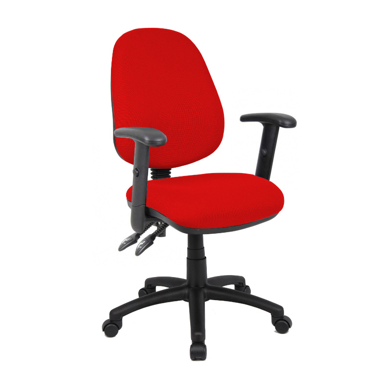 Picture of Vantage 100 2 lever PCB operators chair with adjustable arms - red