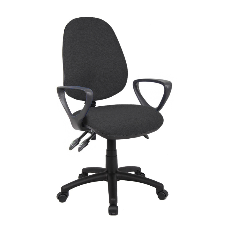 Picture of Vantage 200 3 lever asynchro operators chair with fixed arms - black