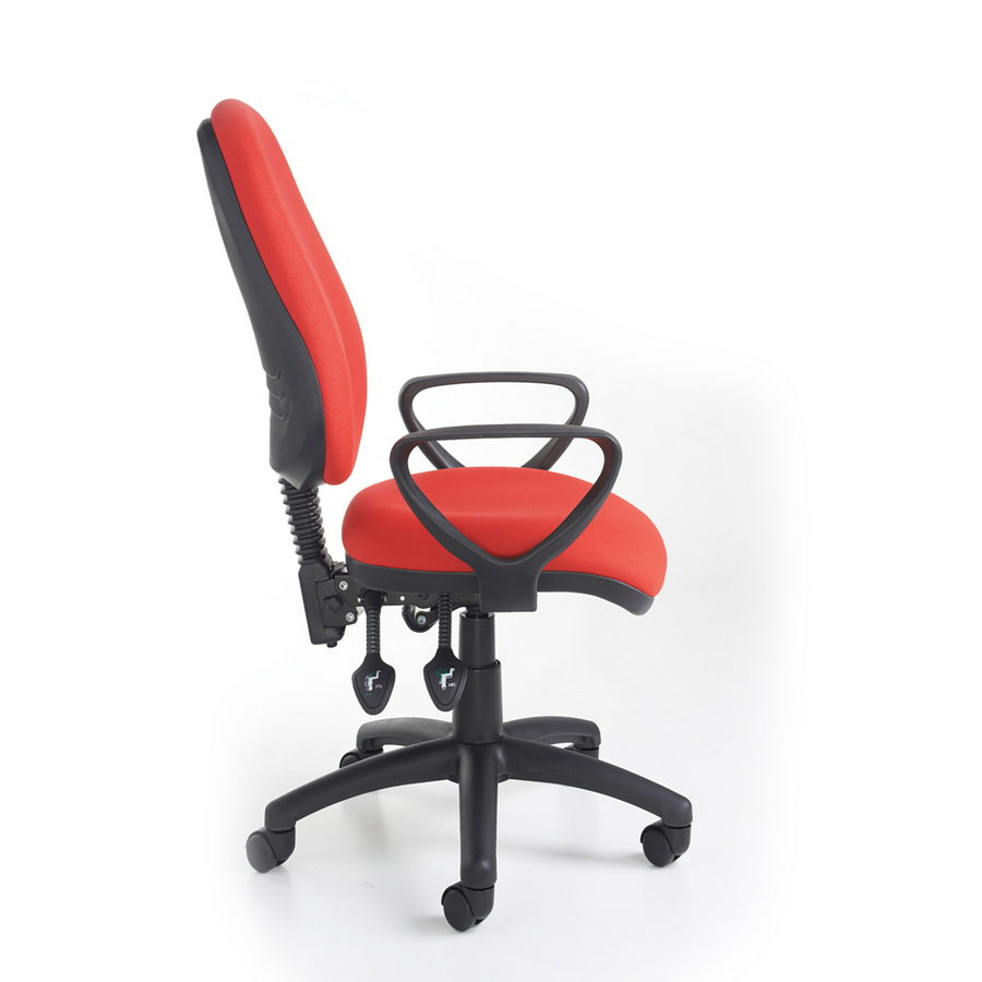 Picture of Vantage 200 3 lever asynchro operators chair with fixed arms - blue