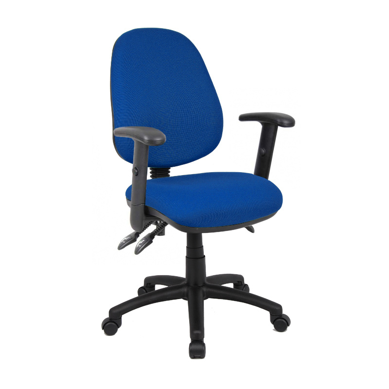 Picture of Vantage 200 3 lever asynchro operators chair with adjustable arms - blue