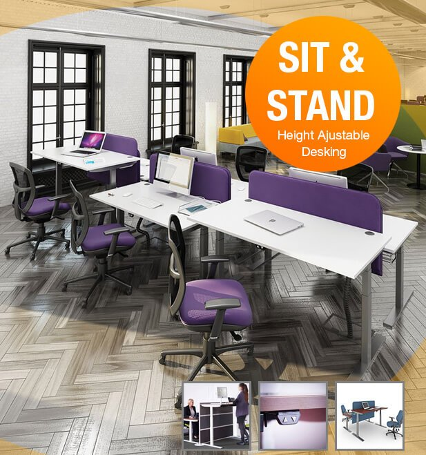 Ergonomic office desking and tables